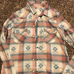 AE Vintage Boyfriend southwestern pattern shirt